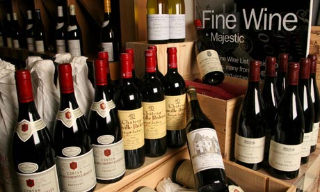 Sales of wines costing £20 plus have grown by 18% at Majestic's retail warehouses.