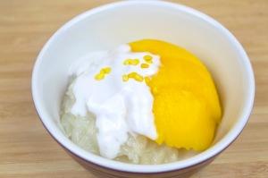 mango with sticky rice dessert recipe